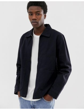 Weekday Camp Washed Coach Jacket In Black by Weekday