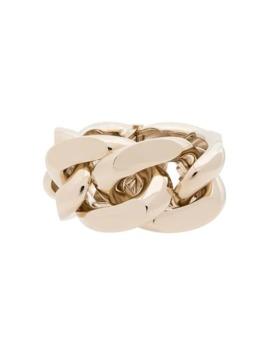 Oversized Gold Tone Chain Bracelet by Saint Laurent