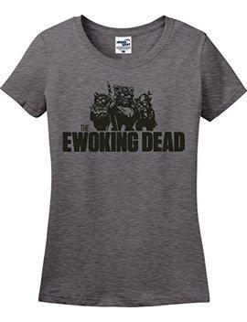The Ewoking Dead Zombie Walking Dead Star Wars Parody Ladies T Shirt (S 3 X) by Utopia Sport