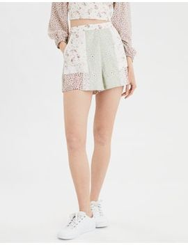 Ae High Waisted Patchwork Short by American Eagle Outfitters
