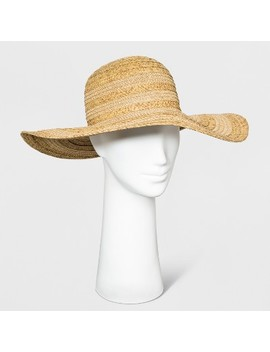 Women's Mix Braid Floppy Hat   A New Day Natural by A New Day Natural