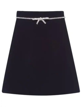 bow-embellished-skirt by miu-miu