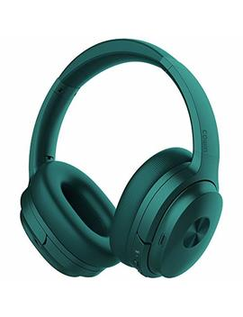 Cowin Se7 Active Noise Cancelling Headphones Bluetooth Headphones Wireless Headphones Over Ear With Mic/Aptx, Comfortable Protein Earpads 50 H Playtime, Foldable Headphones For Travel/Work   Dark Green by Cowin