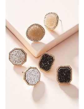 Bauble Bar Druzy Post Earring Set by Bauble Bar
