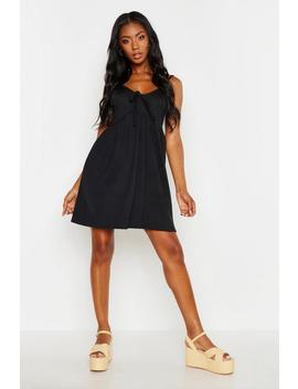 Tie Front Strappy Sundress by Boohoo