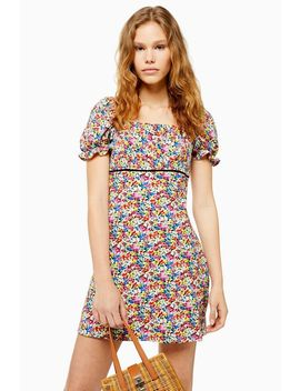 Palermo Floral Mini Square Neck Dress by Topshop