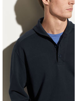 Shawl Collar Henley Sweatshirt by Vince