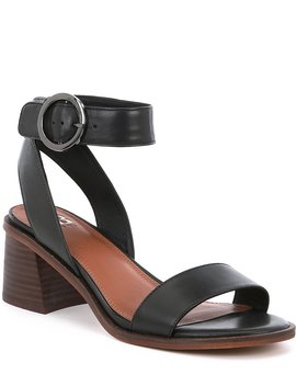 Rendez Vou Leather Block Heel Sandals by Gb