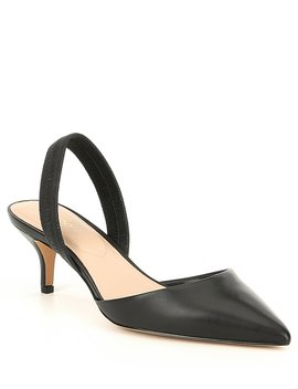 Lovorelle Leather Kitten Heel Slingback Pumps by Aldo