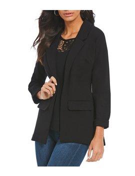 ponte-open-front-boyfriend-blazer-jacket by liverpool-jeans-company