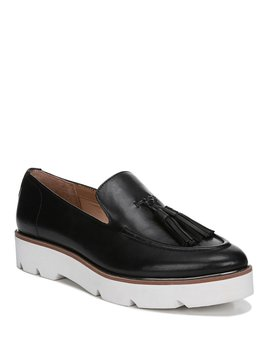 Tammer Leather Wedge Loafers by Franco Sarto