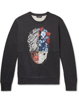Printed Loopback Cotton Jersey Sweatshirt by Alexander Mc Queen