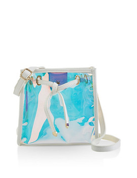 Iridesecent Square Crossbody Bag by Rainbow