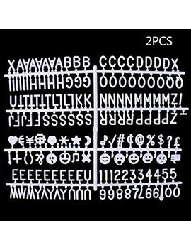 "Shape W 340 White Letters For Changeable Felt Letter Boards 3/4"", Numbers & Symbols Includes @ ! $ Emoji by Shape W"