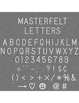 "White Plastic Letter Set For Changeable Felt Letter Boards. Set Of 360 Characters (3/4"" Letters) by Masterfelt"