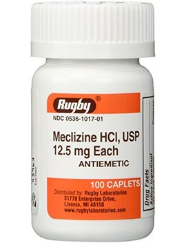 Meclizine Tablets 12.5mg 100ct by Rugby