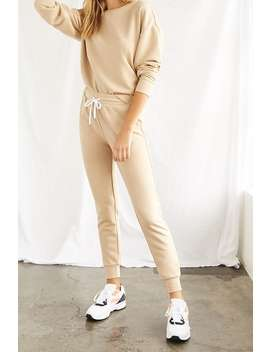 French Terry Drawstring Pants by Forever 21