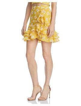 Kiki Ruffled Floral Skirt   100% Exclusive by Bardot