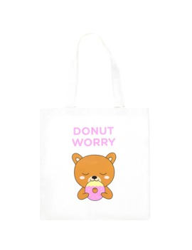 Donut Worry Graphic Eco Tote Bag by Forever 21