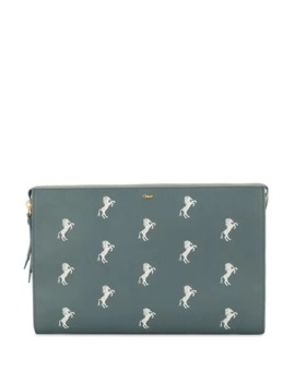 Little Horses Embroidered Pouch by Chloé