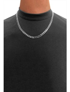 "6mm 22"" 925 Sterling Silver Curb Necklace Chain by 54 Floral Clothing"