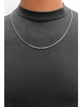 "3mm 24"" Stainless Steel Curb Necklace Chain   Silver by 54 Floral Clothing"