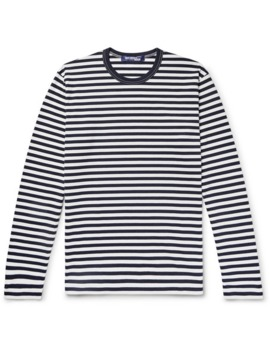Striped Cotton Jersey T Shirt by Junya Watanabe