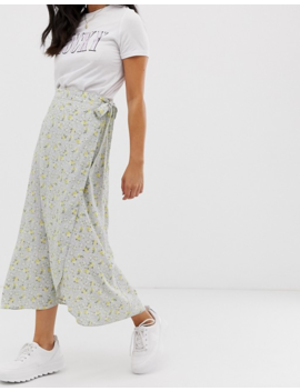Nobody's Child Wrap Midi Skirt In Ditsy Floral by Nobody's Child