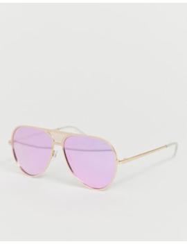 Quay Australia Interlude Sunglasses In Gold by Quay Australia