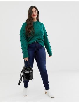 Junarose Long Sleeve Bubble Detail Knit Sweater by Junarose