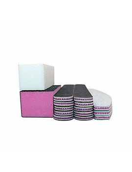 15 Pcs/Box Mixed Combination Nail File Cosmetic Manicure Pedicure(1pcs White Buffer Block+1pcs Polish Buffer Buffing Block+ 3pcs Emery Board White +10pcs... by Auwoo