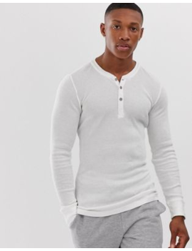 Levi's Long Sleeve Henley In White by Levi's