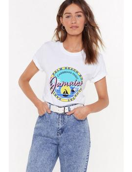 T Shirt à Impressions Welcome To Jamaica by Nasty Gal