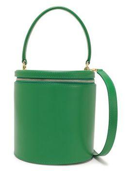 Vitti Leather Bucket Bag by Staud