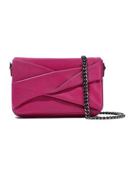Grace Small Pleated Leather Shoulder Bag by Halston Heritage