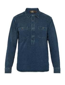 Long Sleeved Cotton Terry Shirt by Rrl