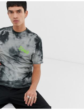 Asos Design Relaxed T Shirt With Tie Dye And Neon Print by Asos Design