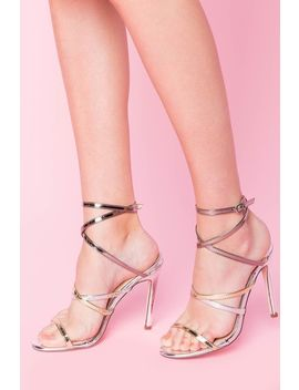 Barely Toe Metallic Heels by A'gaci
