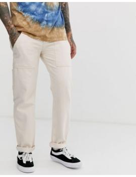 Asos Design Original Fit Carpenter Jeans In Ecru by Asos Design