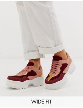 Asos Design   Dart   Sneakers Met Brede Pasvorm En Dikke Zool In Meerkleurig by Asos Design