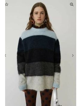 Acne Studios Albah Mohair Blue/Multi Classic Striped Sweater Size Xs Rrp $600 by Acne Studios