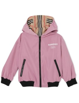 Reversible Hooded Jacket by Burberry Kids