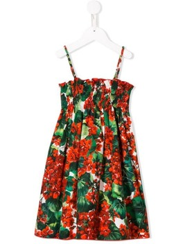 Ruched Floral Dress by Dolce & Gabbana Kids