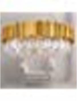 "Meelighting Raindrop Gold Plated Modern Crystal Chandelier Lights Luxury Pendant Ceiling Light Contemporary Chandeliers Lighting Fixture For Dining Living Room Kitchen Island Bedroom W27.6"" by Meelighting"