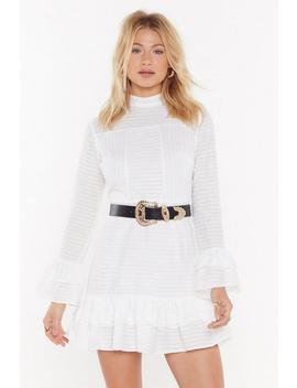 Draw The Line Ruffle Mini Dress by Nasty Gal