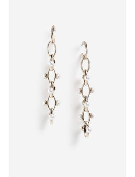 Pearl Link Drop Earrings by Topshop