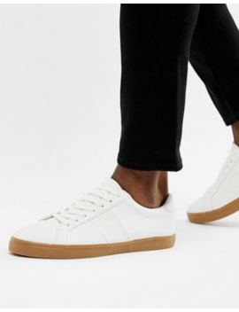Asos Design   Sneakers Bianche Con Suola In Gomma by Asos Design