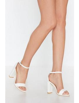Play The Two Part Faux Leather Sandals by Nasty Gal