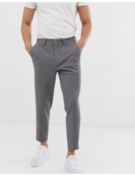 Selected Homme Tapered Cropped Pants With Jersey Stretch by Selected Homme
