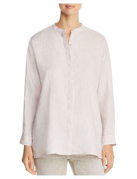 Organic Linen High/Low Shirt by Eileen Fisher